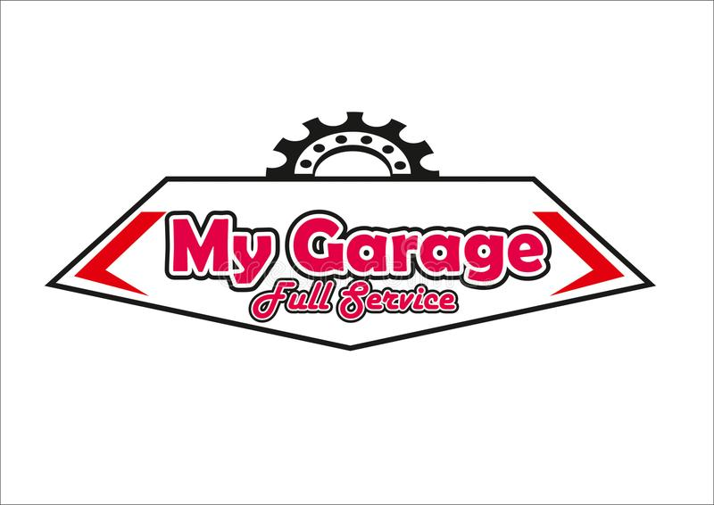 Обслуживание логотипа гаража полное стоковые фотографии rf