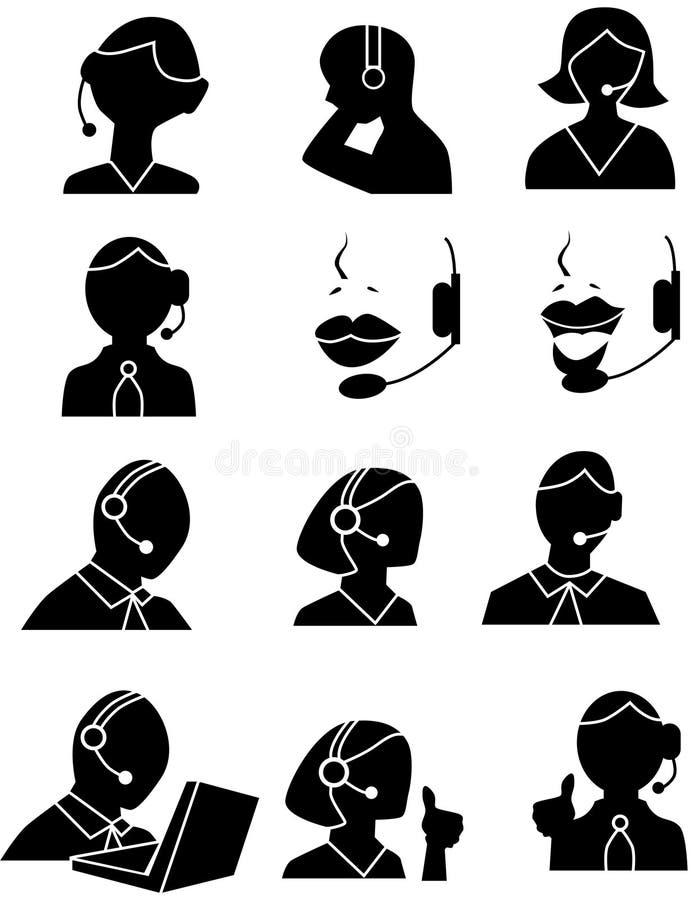 обслуживание людей икон клиента бесплатная иллюстрация