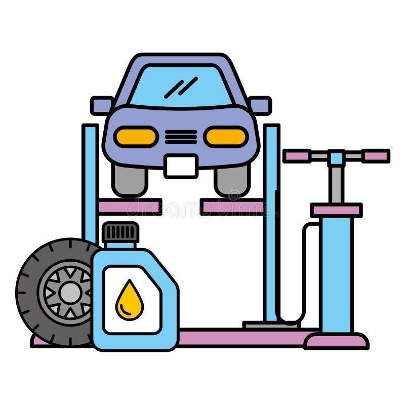 Обслуживание масла колеса воздуха насоса гидравлического подъема корабля автомобильное бесплатная иллюстрация