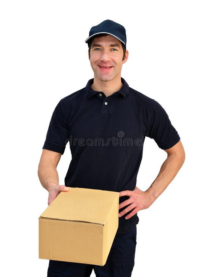Обслуживание поставки - пакетируйте несущую для того чтобы поставить пакеты и consign стоковая фотография