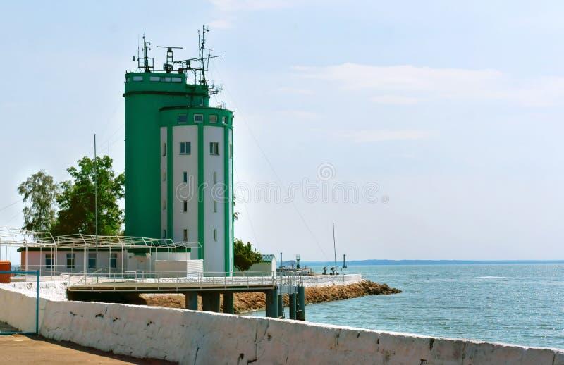 Обслуживание прибалтийского военноморского основания, пилотная башня Baltiysk RAID столба стоковое фото rf