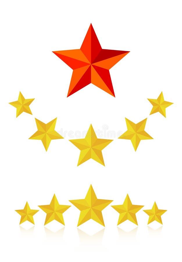 Обслуживание 5 звезд иллюстрация вектора