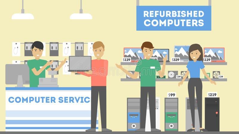 Обслуживание reapir компьютера иллюстрация штока