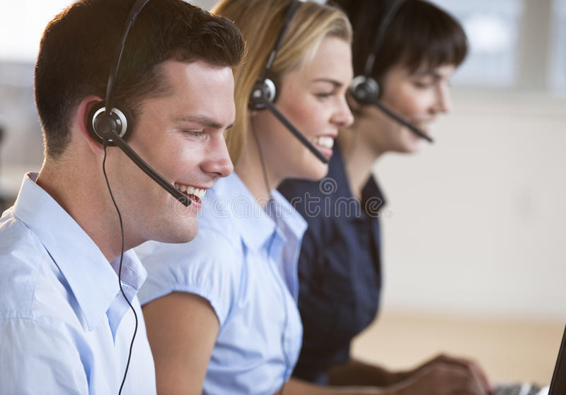 обслуживание reps клиента счастливое стоковые изображения