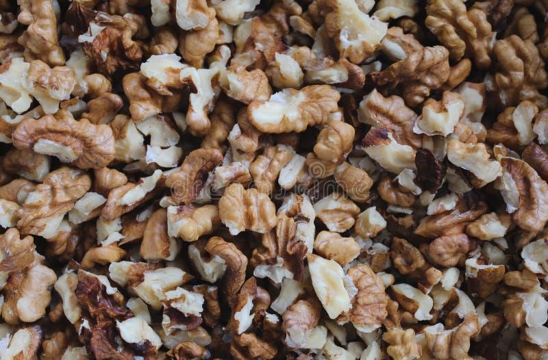 Обстреливаемая предпосылка грецких орехов Чокнутая текстура стоковое фото rf