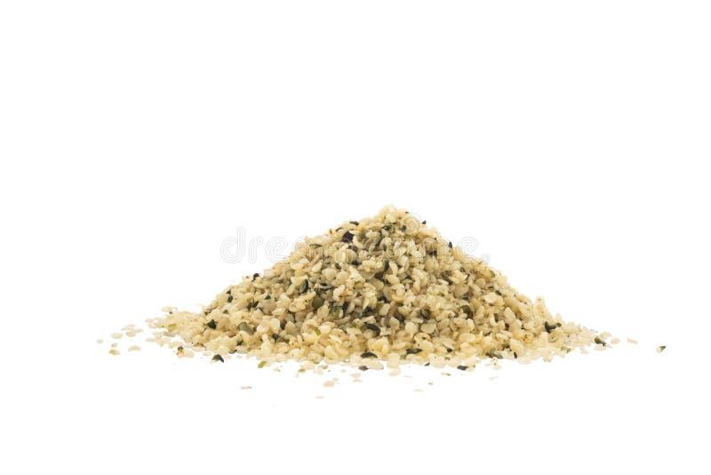 Обстреливаемые органические семена пеньки стоковое фото rf
