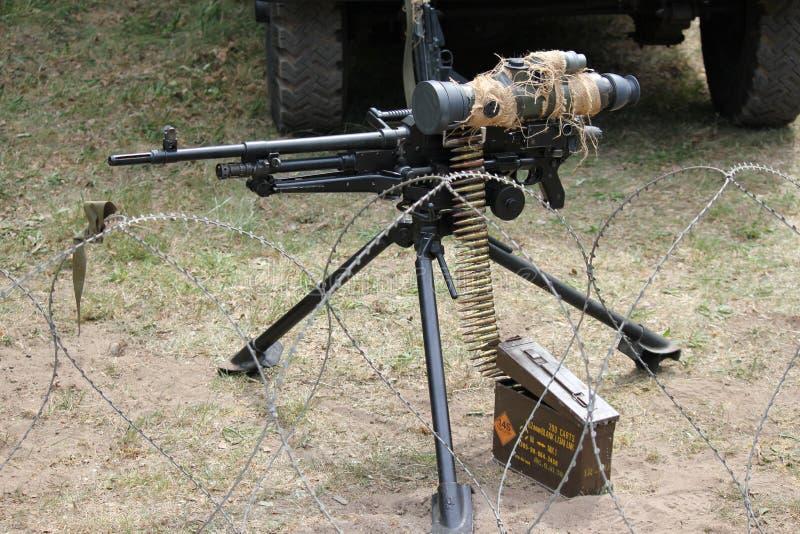 Обстреливайте пулеметным огнем .50 звонка стоковые изображения