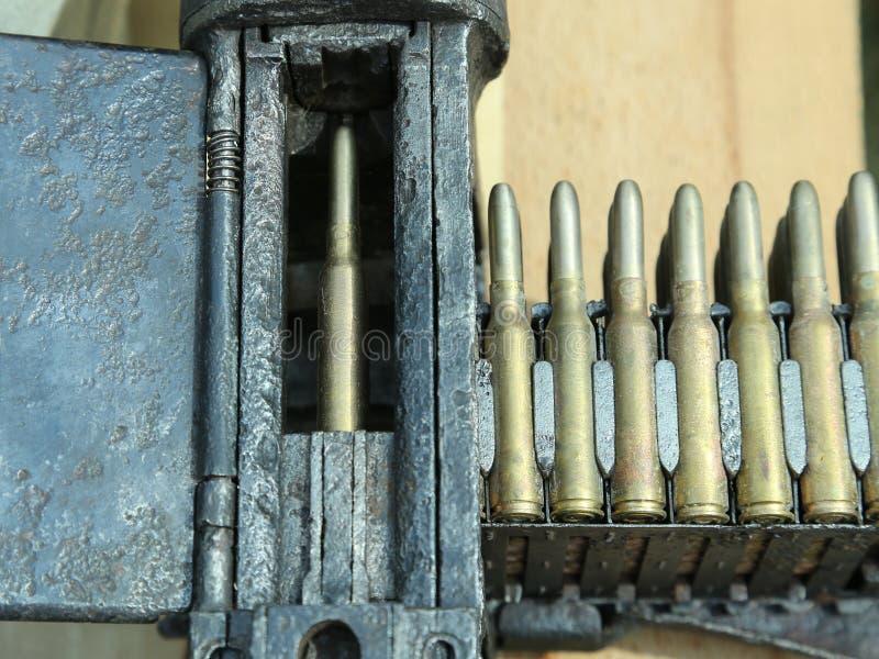 Обстреливанные пулеметным огнем пули стоковое изображение