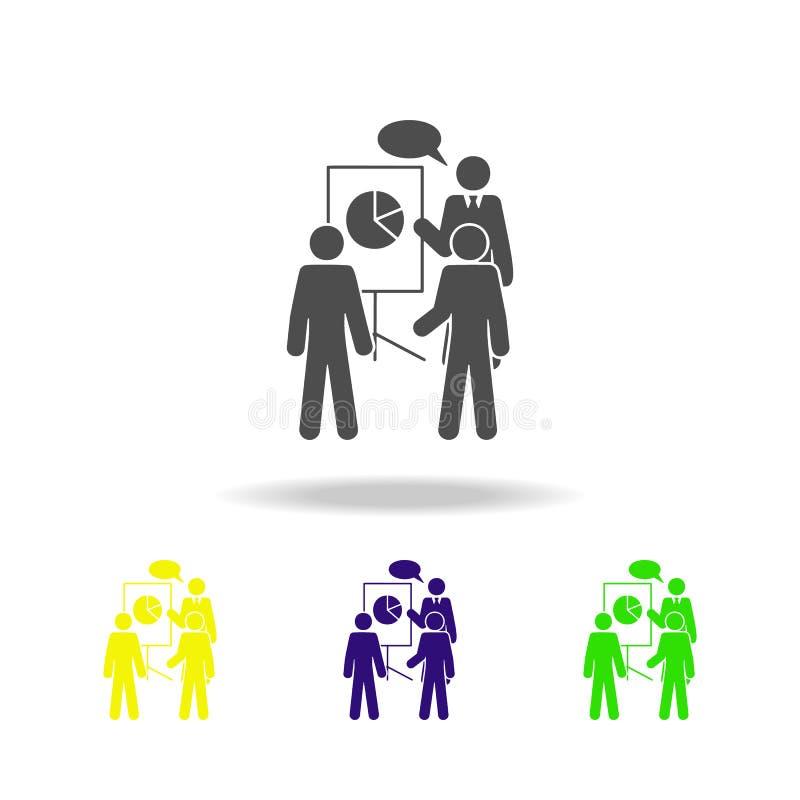 обсуждение значка планов Элемент значка коллег для передвижных apps концепции и сети Обстоятельное обсуждение значка планов может иллюстрация штока