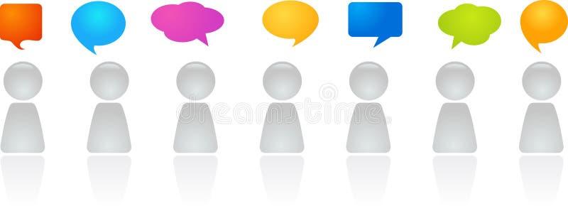 Обсуждение общественно важного вопроса группой специально отобранных людей иллюстрация вектора