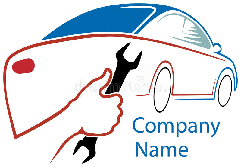 Обслуживайте логотип станции иллюстрация штока