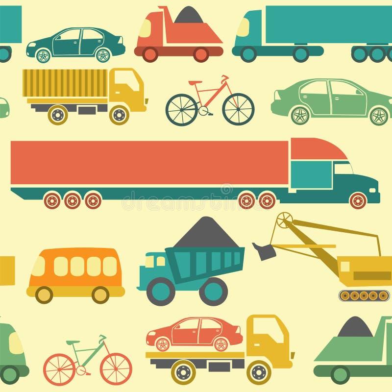 Обслуживание автомобиля и некоторые типы предпосылки транспорта иллюстрация вектора