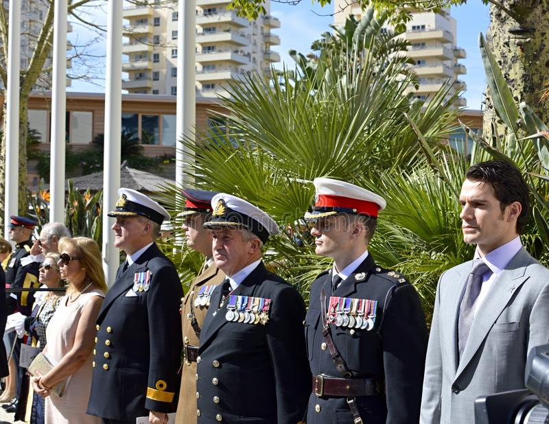 Обслуживание годовщины королевских морских пехотинцов 350th стоковое изображение