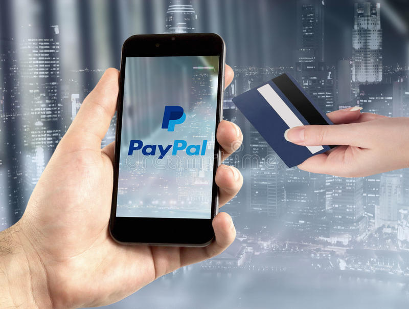 обслуживание предприятий PayPal-коммерции стоковое фото rf
