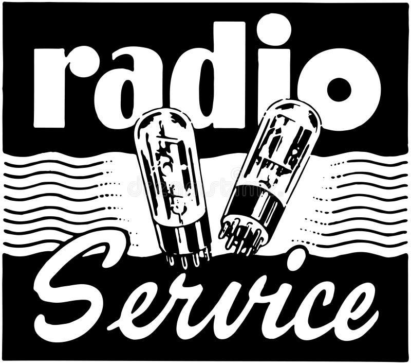 Обслуживание радио иллюстрация штока