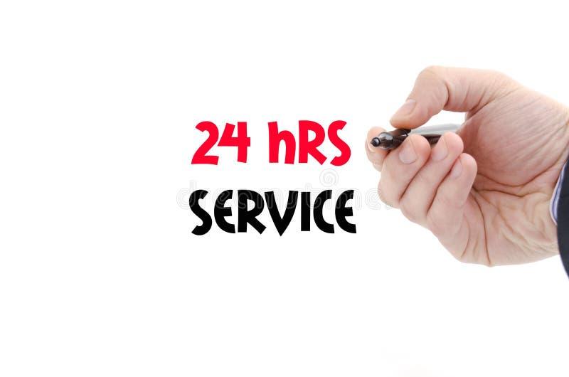 24 обслуживания hrs концепции текста стоковая фотография