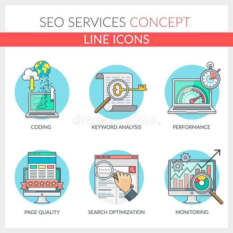 Обслуживания Seo иллюстрация вектора