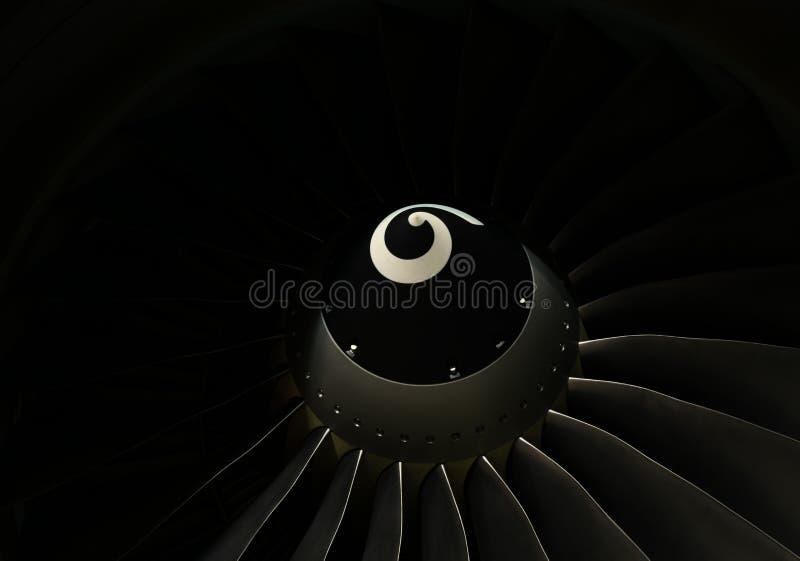 Обтекатель втулки и лопатки вентилятора двигателя воздушного судна Боинга 737-800 закрывают вверх стоковая фотография rf