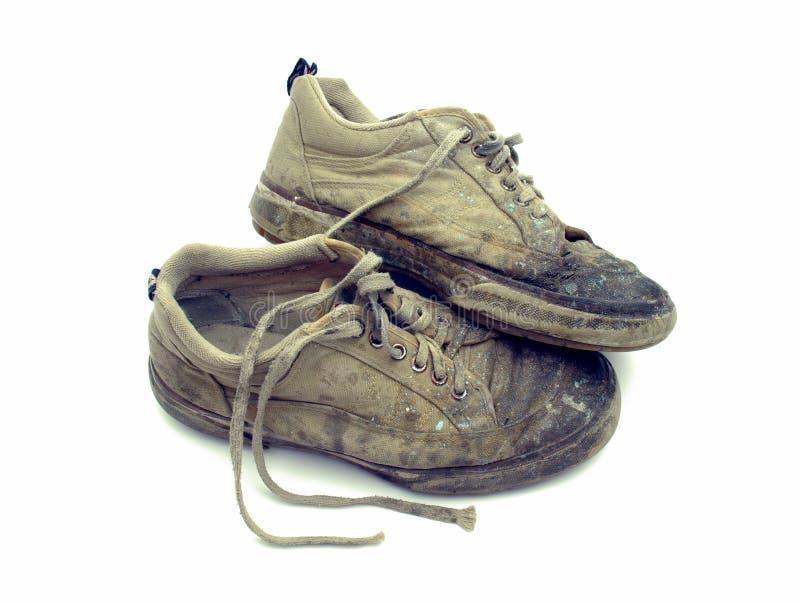 обувь использовала стоковое фото