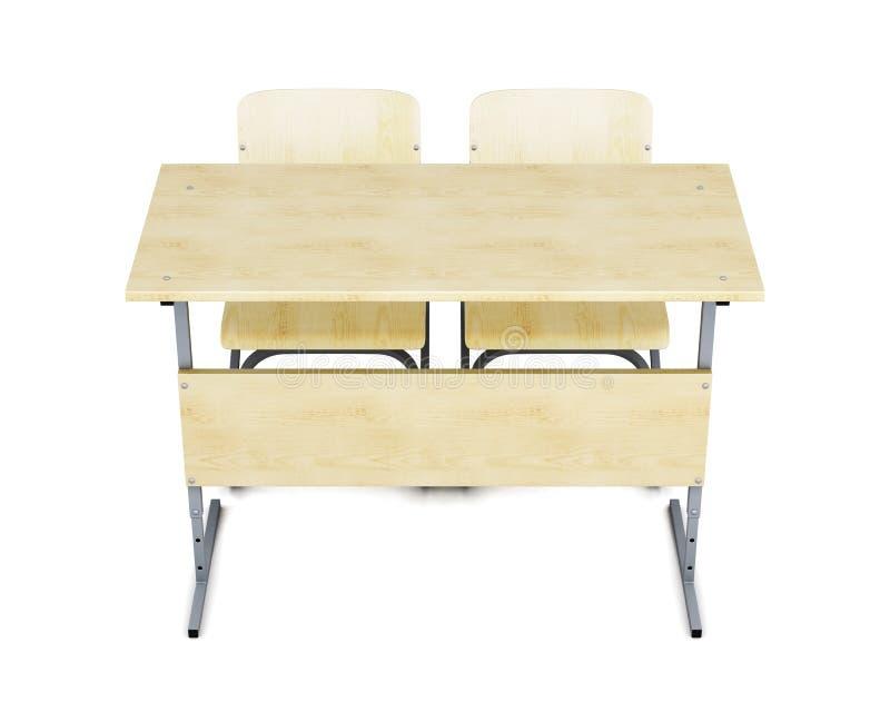 Обучите стол и стулья противостоят на белой предпосылке re 3d бесплатная иллюстрация