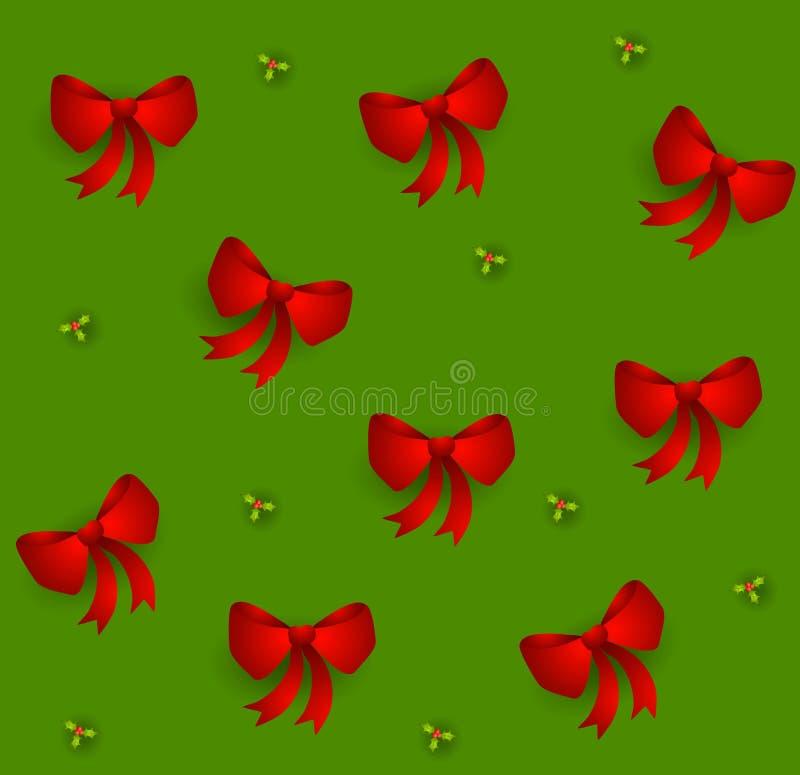 обхватывает красный Tileable Xmas Стоковые Фото