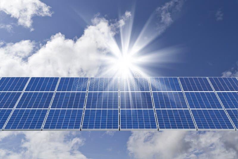 обшивает панелями солнечное стоковое изображение