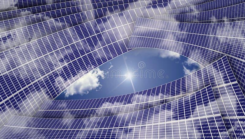 обшивает панелями солнечное стоковое изображение rf