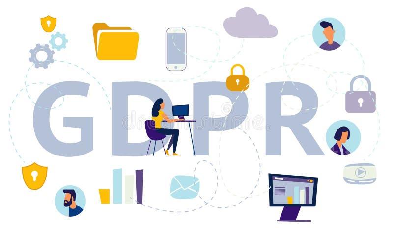 Общая защита данных регулированное GDPR бесплатная иллюстрация