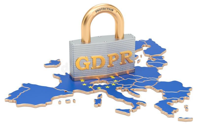 Общая регулировка защиты данных в концепции Европейского союза бесплатная иллюстрация