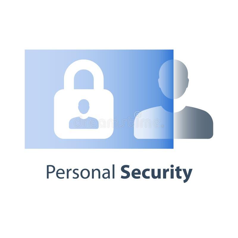 Общая регулировка защиты данных, личная безопасность данных, предупреждение преступности кибер, откровение информации, политика у бесплатная иллюстрация