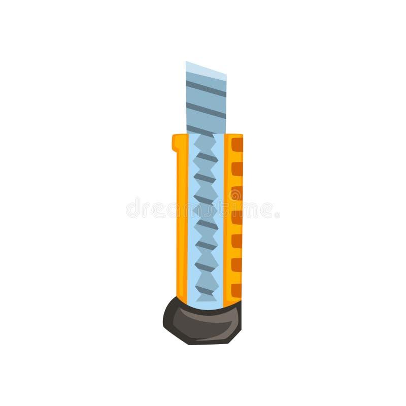Общего назначения инструмент ножа, иллюстрация вектора резца на белой предпосылке иллюстрация вектора