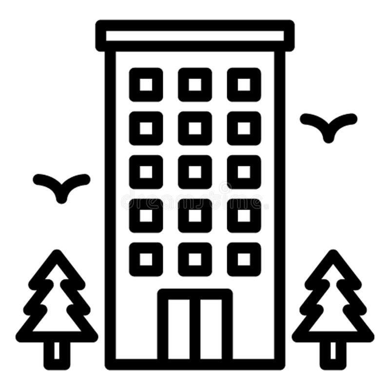 Общежитие, значок вектора гостиницы который может легко редактировать бесплатная иллюстрация