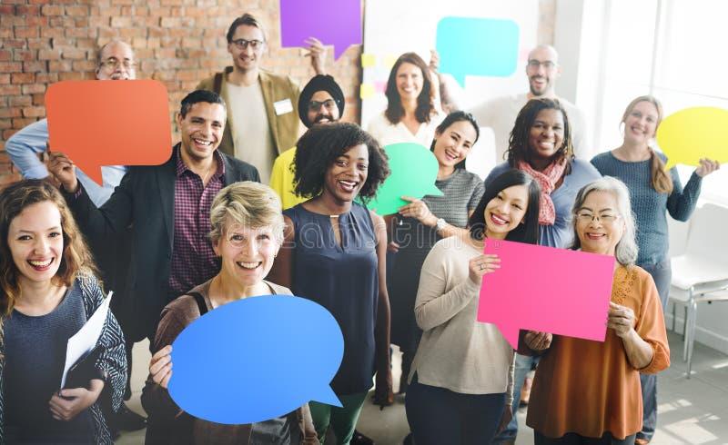 Общественная группа команды разнообразия концепции людей стоковое изображение