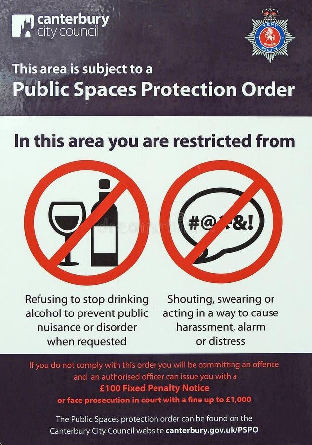 Общественное извещение о знака запрета разлада стоковая фотография
