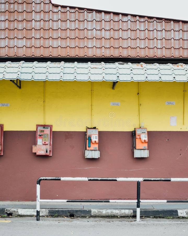 Общественные телефоны в отчаянии стоковое изображение