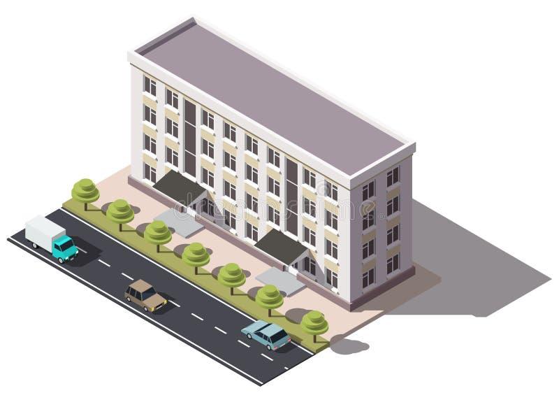 Общественный жилой дом isometry бесплатная иллюстрация