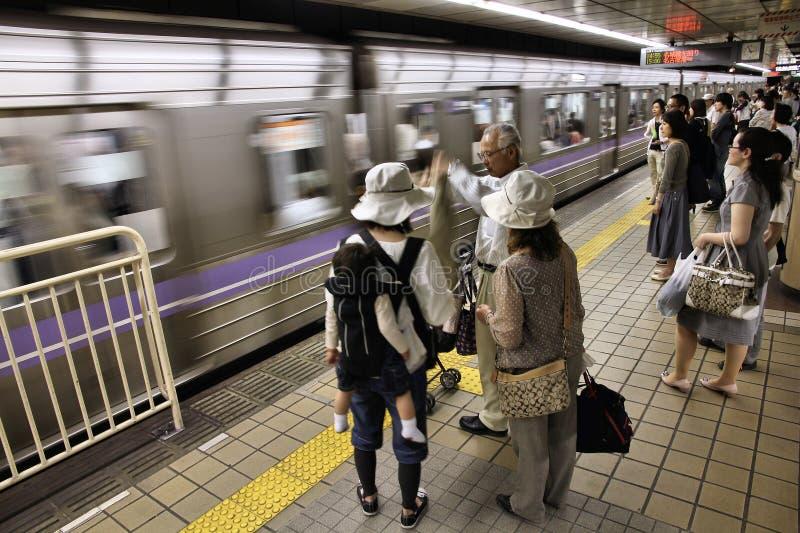 Общественный местный транспорт Нагоя стоковые изображения rf