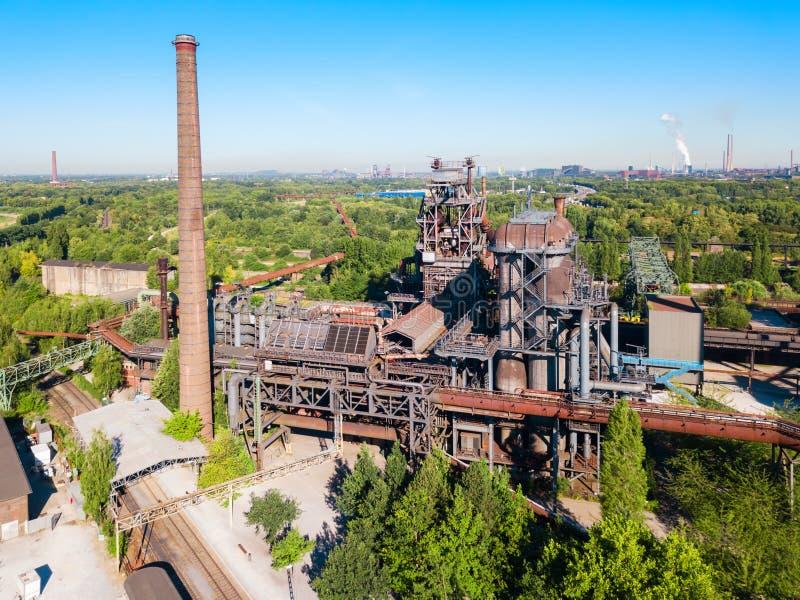 Общественный парк Landschaftspark промышленный, Дуйсбург стоковое фото rf