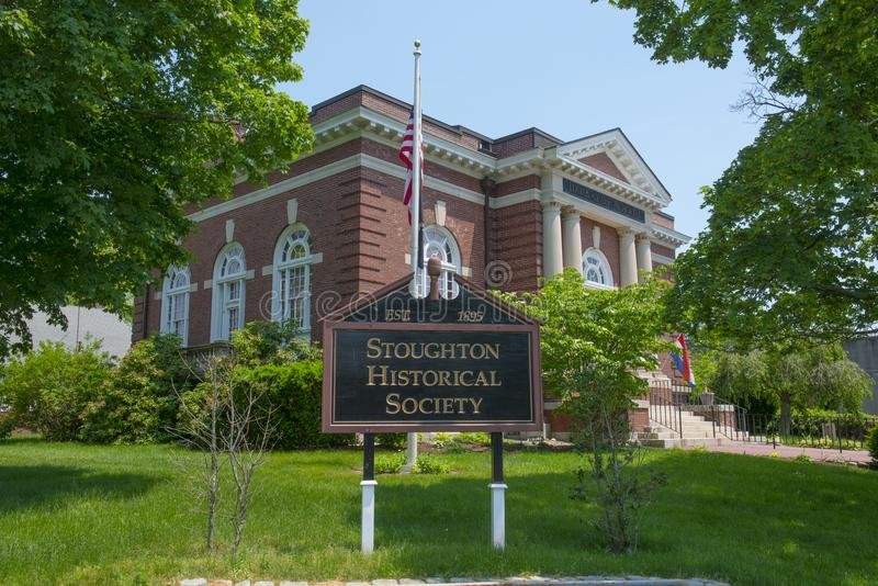 Общество Stoughton историческое, Массачусетс, США стоковое фото rf