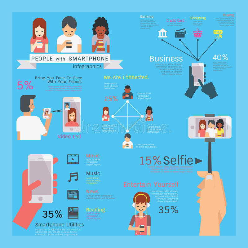Общие назначения Smartphone иллюстрация штока