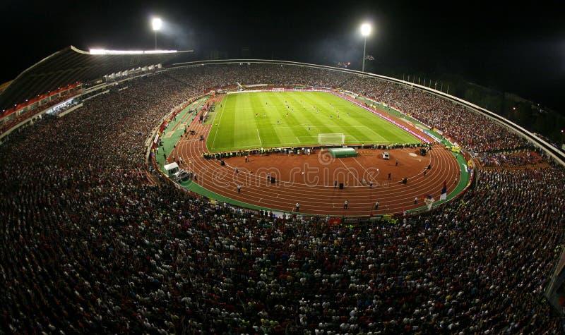 Общий обзор красного стадиона Белграда звезды стоковые фотографии rf