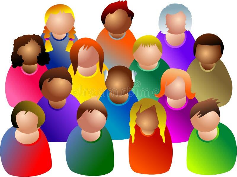 община разнообразная иллюстрация вектора
