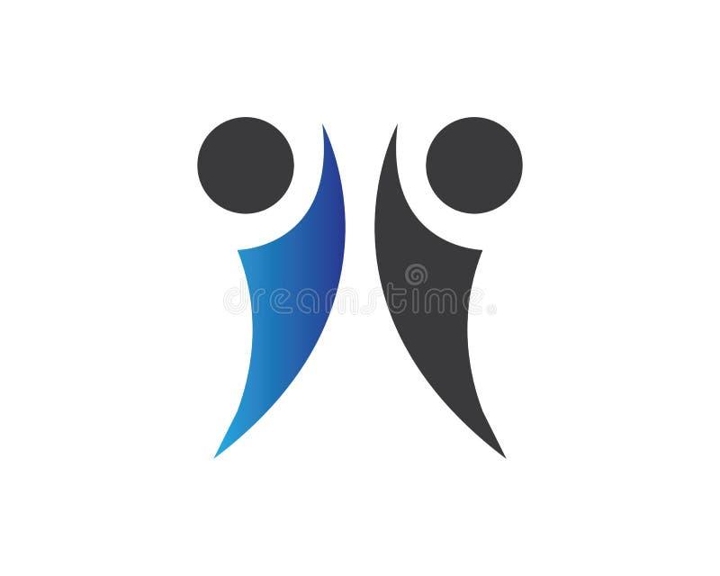Община, сеть и социальный дизайн значка иллюстрация штока