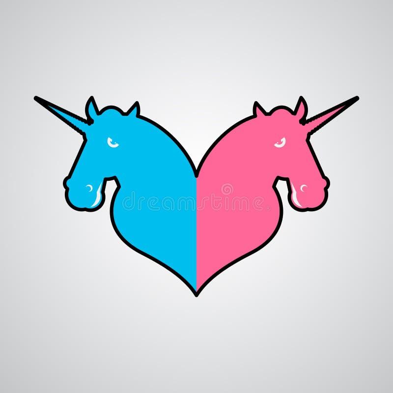 Община символа единорога LGBT Знак животного влюбленности и волшебства 2 бесплатная иллюстрация
