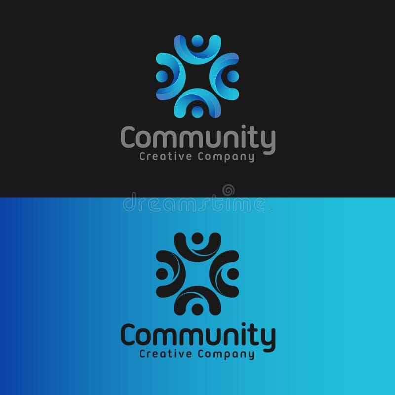 Община - шаблон логотипа c письма бесплатная иллюстрация