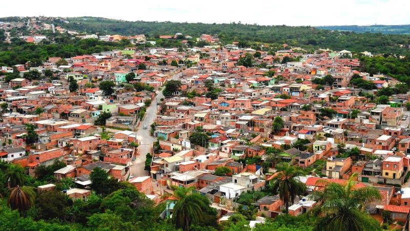 Община Vila Fagundes расположенная в городе положения Lagoa Санты мин Geraislocated в MG Lagoa Санты стоковое изображение