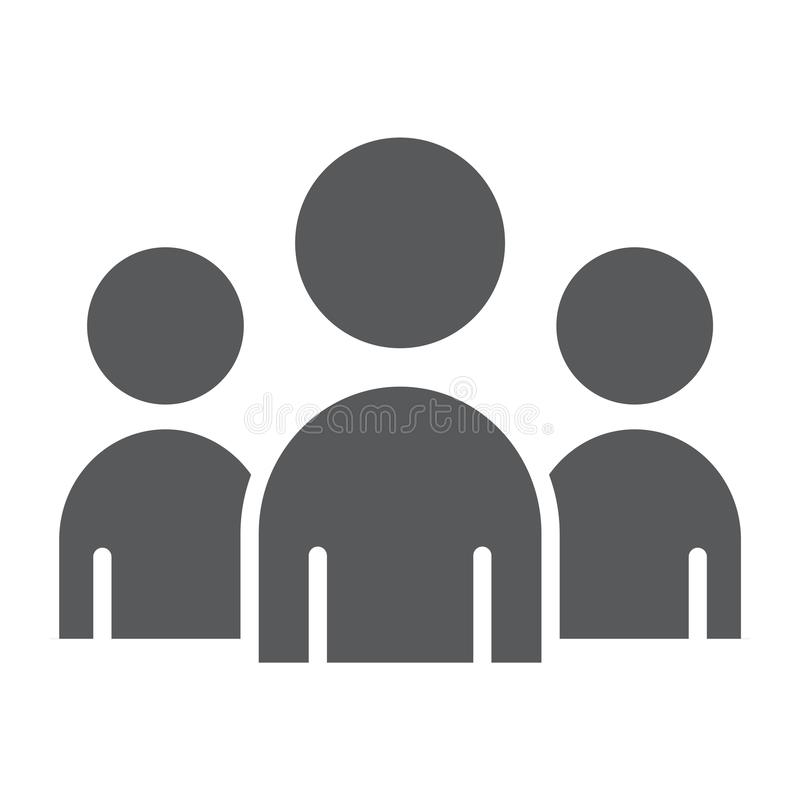 Объединяйтесь в команду значок глифа, дело и работа, знак группы иллюстрация вектора