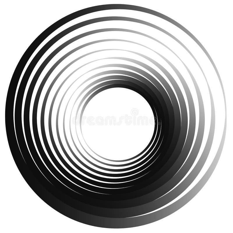 Download объезжает концентрическое Излучать, Radial объезжает Monochrome Abstrac Иллюстрация вектора - иллюстрации насчитывающей роторно, вращайтесь: 81814070