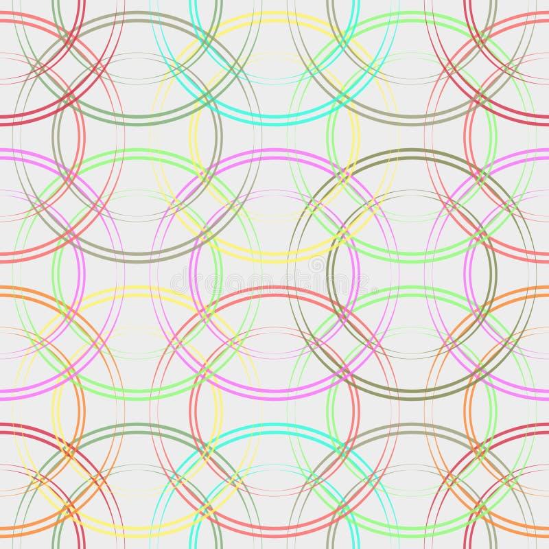 объезжает цветастую картину безшовную Модная геометрическая предпосылка в ультрамодных цветах: мягко пинк, синь военно-морского ф иллюстрация вектора
