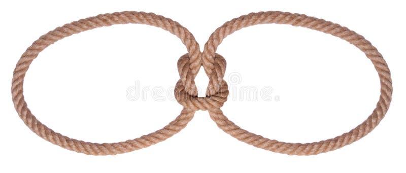 объезжайте веревочку 2 узла стоковая фотография rf